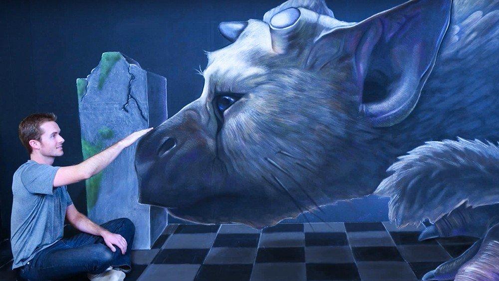 The Last Guardian protagoniza esta increíble ilustración con tiza