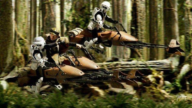 Star Wars: Unos fans recrean la persecución de speeders con motos de agua