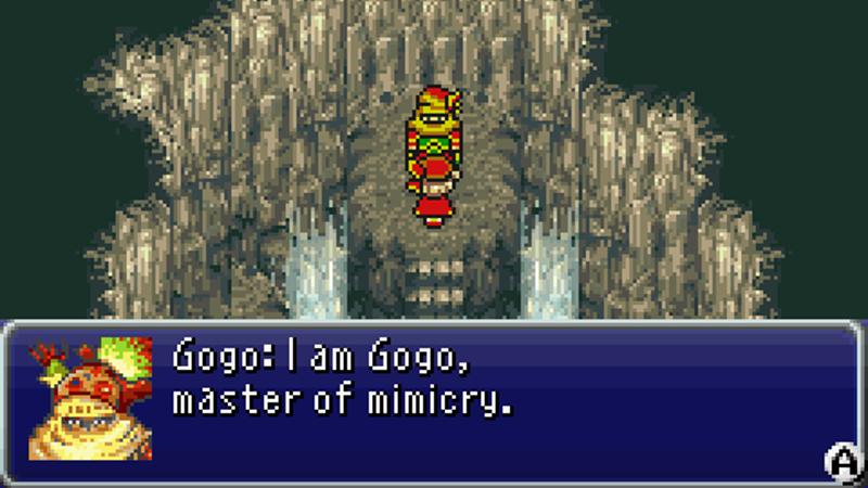 Un jugador reclamó que Gogo de Final Fantasy VI fue un gobernador americano real