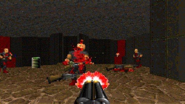 Doom 2: Un usuario juega utilizando una tecla como pantalla