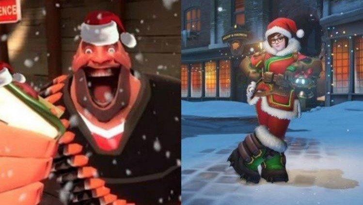 Overwatch v Team Fortress 2: ¿Quién tiene las mejores skins navideñas?