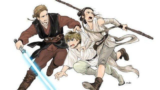 Star Wars, reimaginado como un manga