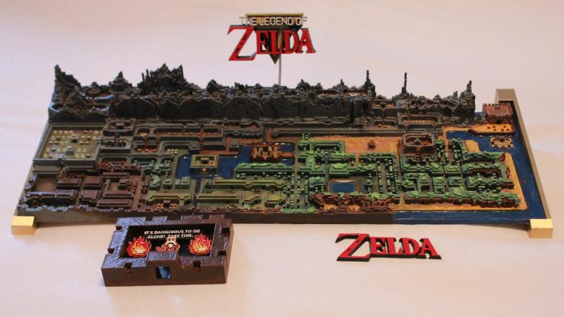 The Legend of Zelda: Imprimen en 3D el mapa al completo del primer juego
