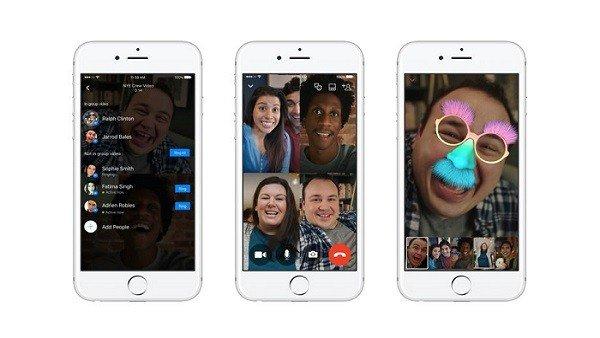 Facebook activa las videollamadas grupales en Messenger