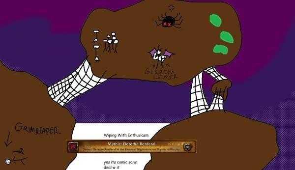 World of Warcraft: Un grupo de jugadores pierde las capturas de su hazaña contra un jefe y la representan con Paint