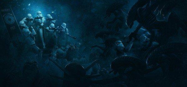 Star Wars y Alien presentan un crossover en estos fanarts