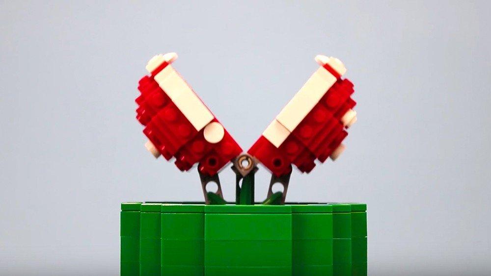 Super Mario: Construyen una planta carnívora totalmente funcional con LEGO