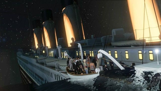 Grand Theft Auto V recrea el hundimiento del Titanic con un mod