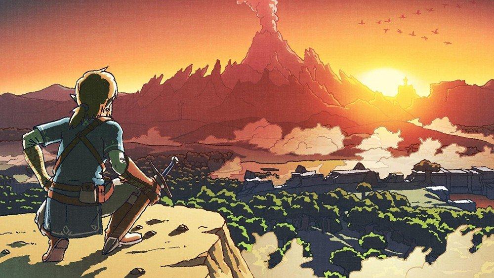 The Legends of Zelda: Breath of the Wild comparte nuevo arte homenajeando a sus inicios