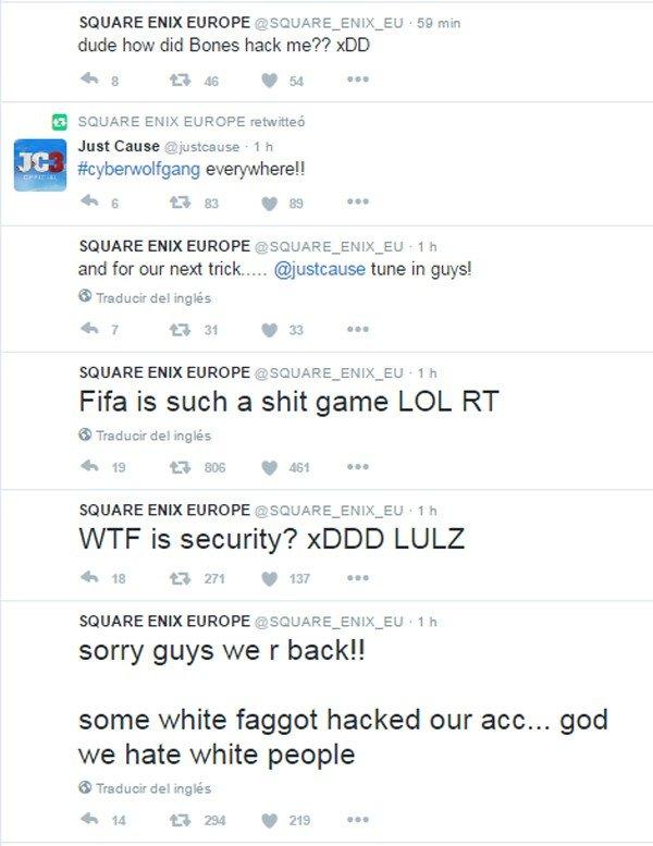 Square Enix Europa ve su cuenta de Twitter hackeada