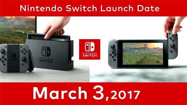 Nintendo Switch confirma su precio y fecha de lanzamiento