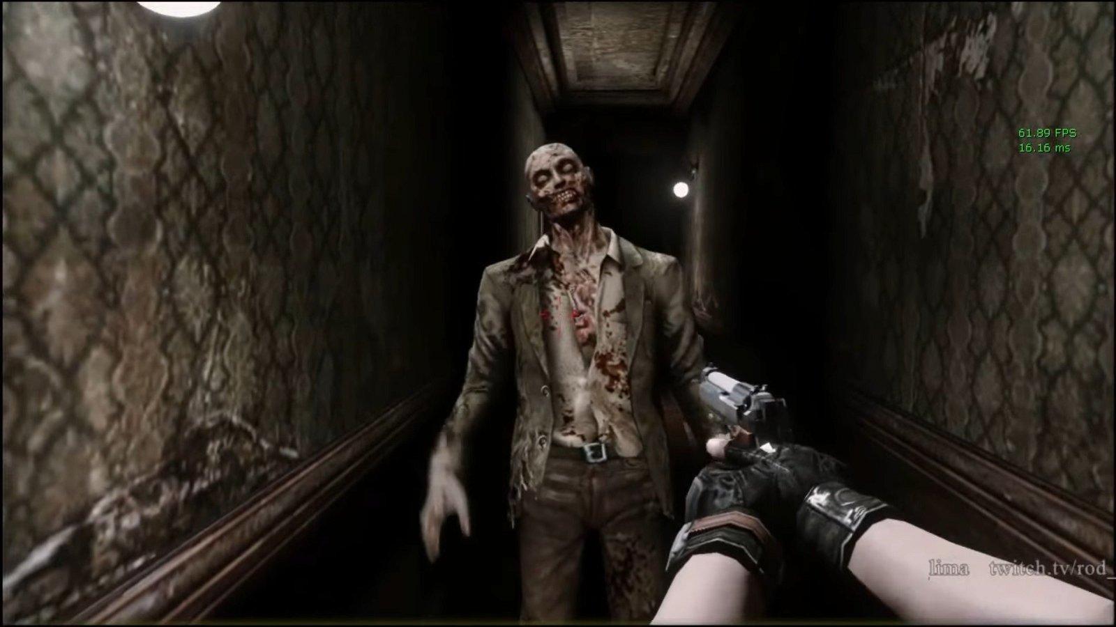 Resident Evil: El título original luce así en primera persona