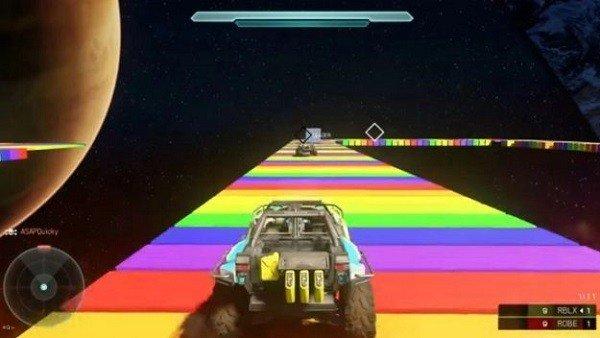 Halo 5: Guardians: Recrean la Senda Arcoíris de Mario Kart