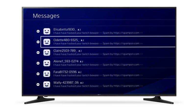 Usuarios de PlayStation 4 están mandando de mensajes de spam solo para molestar a otros