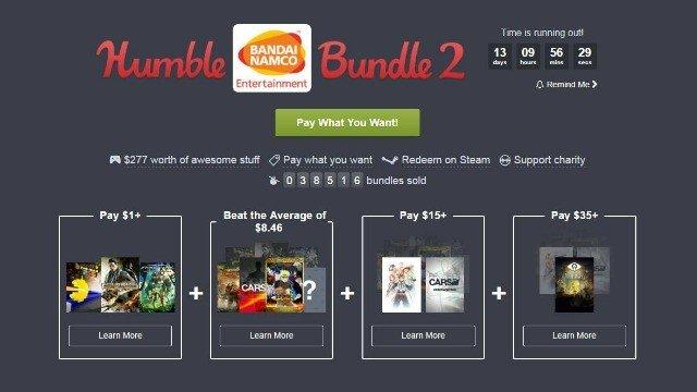 Humble Bundle repite asociación con Bandai Namco en un nuevo lote