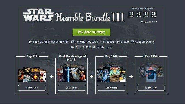 Humble Bundle nos ofrece juegos de Star Wars en su nuevo lote