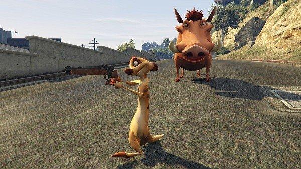 Grand Theft Auto V recibe a Simba y al resto de El Rey León en un mod