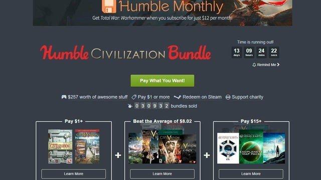 Civilization protagoniza el nuevo Humble Bundle