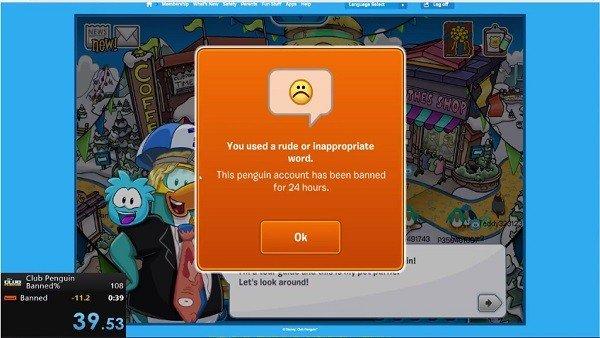 Club Penguin: El juego donde los usuarios compiten por ver quién es baneado más rápido