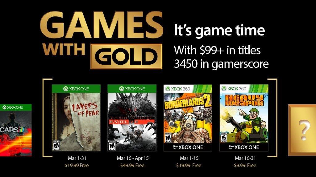 Games with Gold desvela sus juegos gratuitos para marzo de 2017