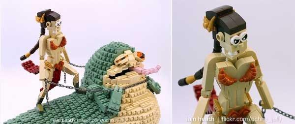 Star Wars: Leia y Jabba son creados con piezas de Lego
