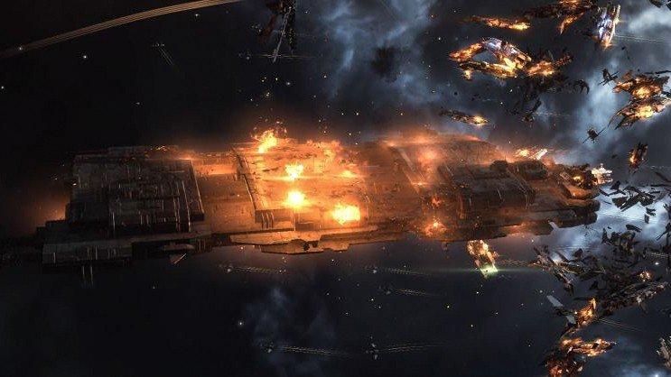 EVE Online: Una flota de destructores derriba cargueros por valor de 13.000 dólares reales