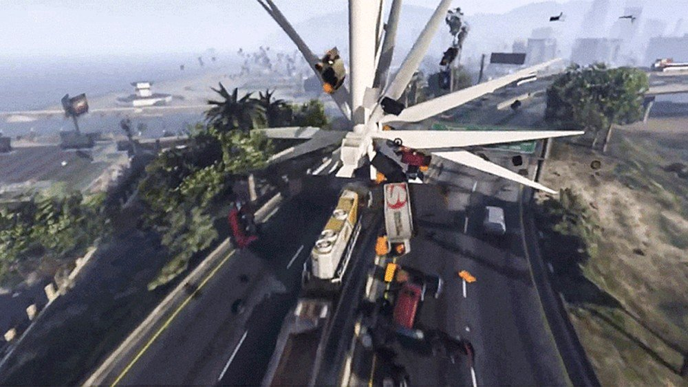 Grand Theft Auto V: Sus jugadores aprovechan la energía eólica para sembrar el caos