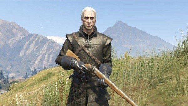 Grand Theft Auto V: Crean un mod que nos permite jugar como Geralt de Rivia