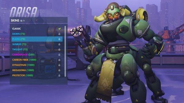 Overwatch: Estas son las skins de Orisa, el nuevo héroe del juego