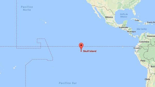 Google introduce en sus mapas la isla de Kong: La Isla Calavera