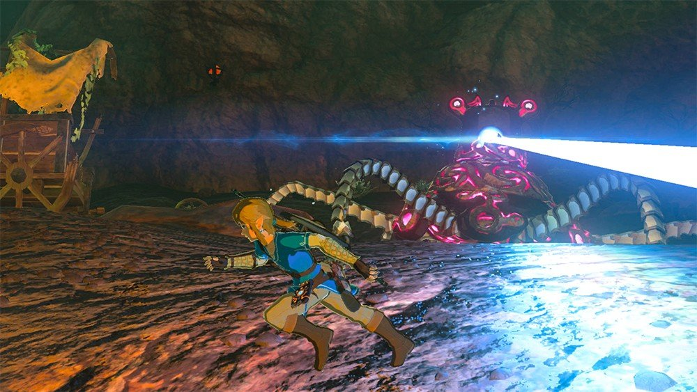 The Legend of Zelda: Breath of the Wild: Vencen a un Guardián usando solo un caballo