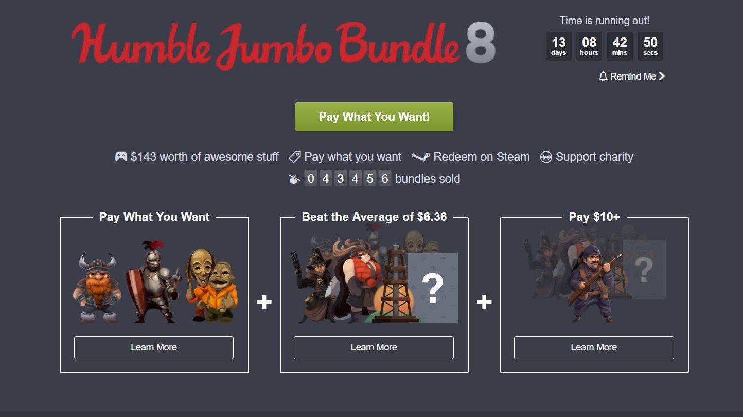 Humble Bundle ofrece una nueva oleada de juegos por el precio que desees pagar
