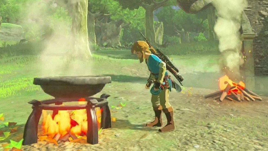The Legend of Zelda: Breath of the Wild te permite preparar todas estas recetas