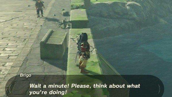 The Legend of Zelda: Breath of the Wild: Un personaje no quiere que nos suicidemos