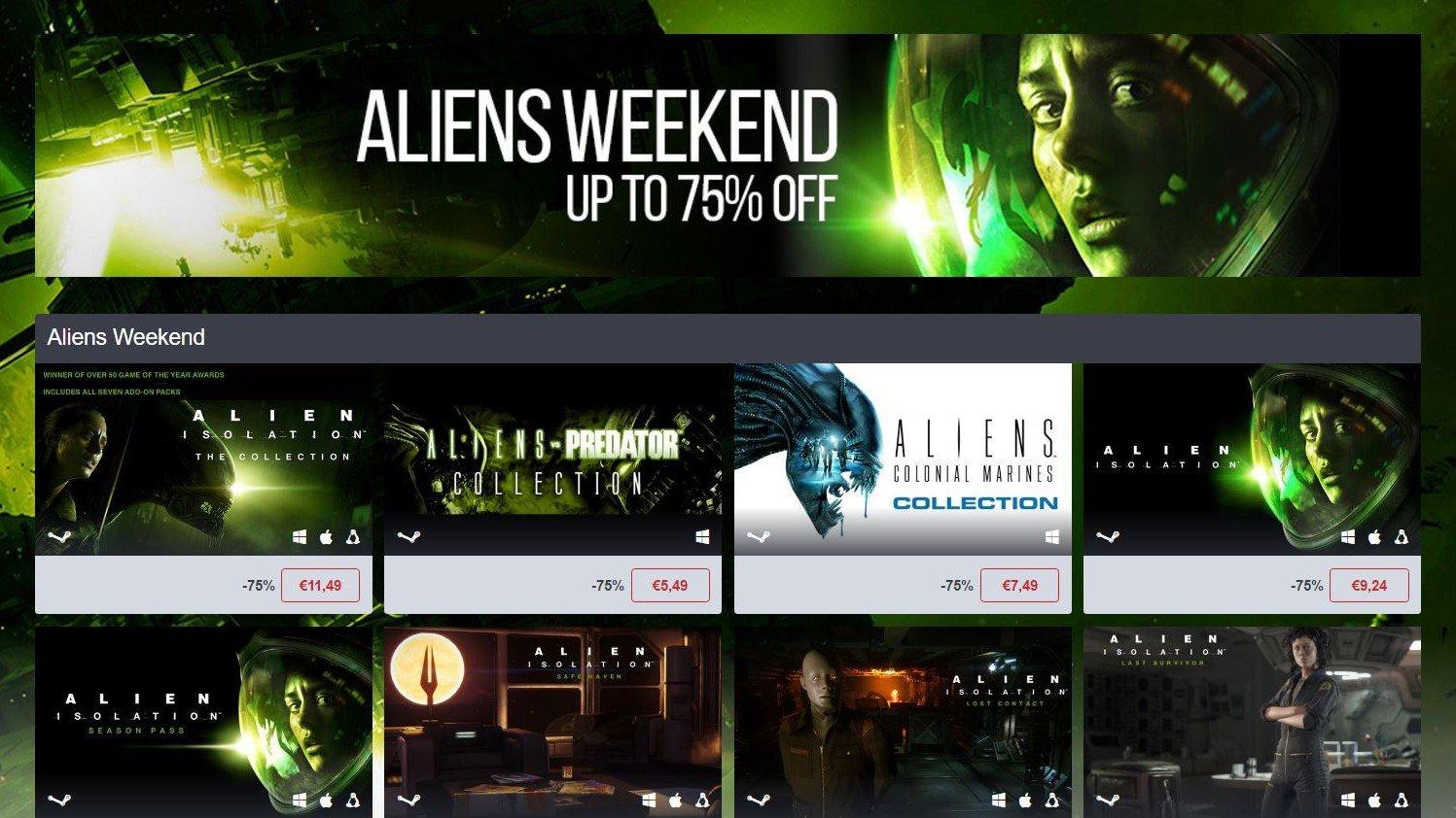 Humble Bundle ofrece la saga Alien a un precio irresistible