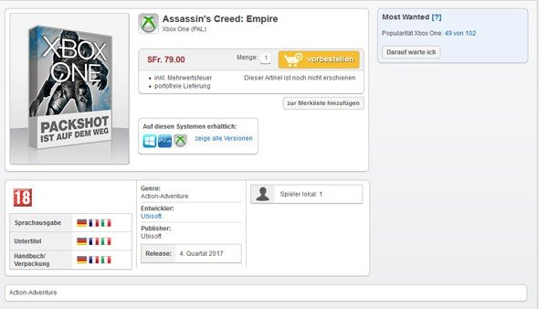 Assasin's Creed Empire ya podría tener fecha de lanzamiento