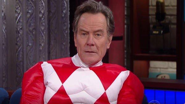 Power Rangers: Bryan Cranston aparece en televisión con el traje del Power Ranger rojo