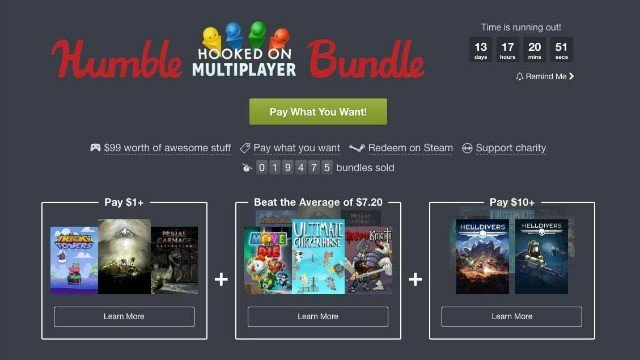 El nuevo Humble Bundle apuesta por el multijugador