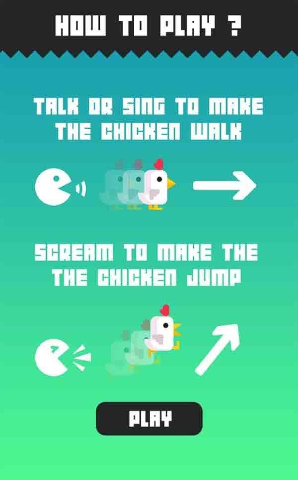 Chicken Scream, el nuevo juego viral para móviles que se maneja con gritos