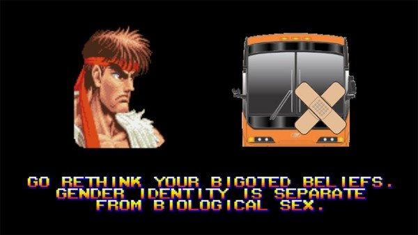 Street Fighter II: Su famoso minijuego del coche se reinventa con el autobús de Hazteoir