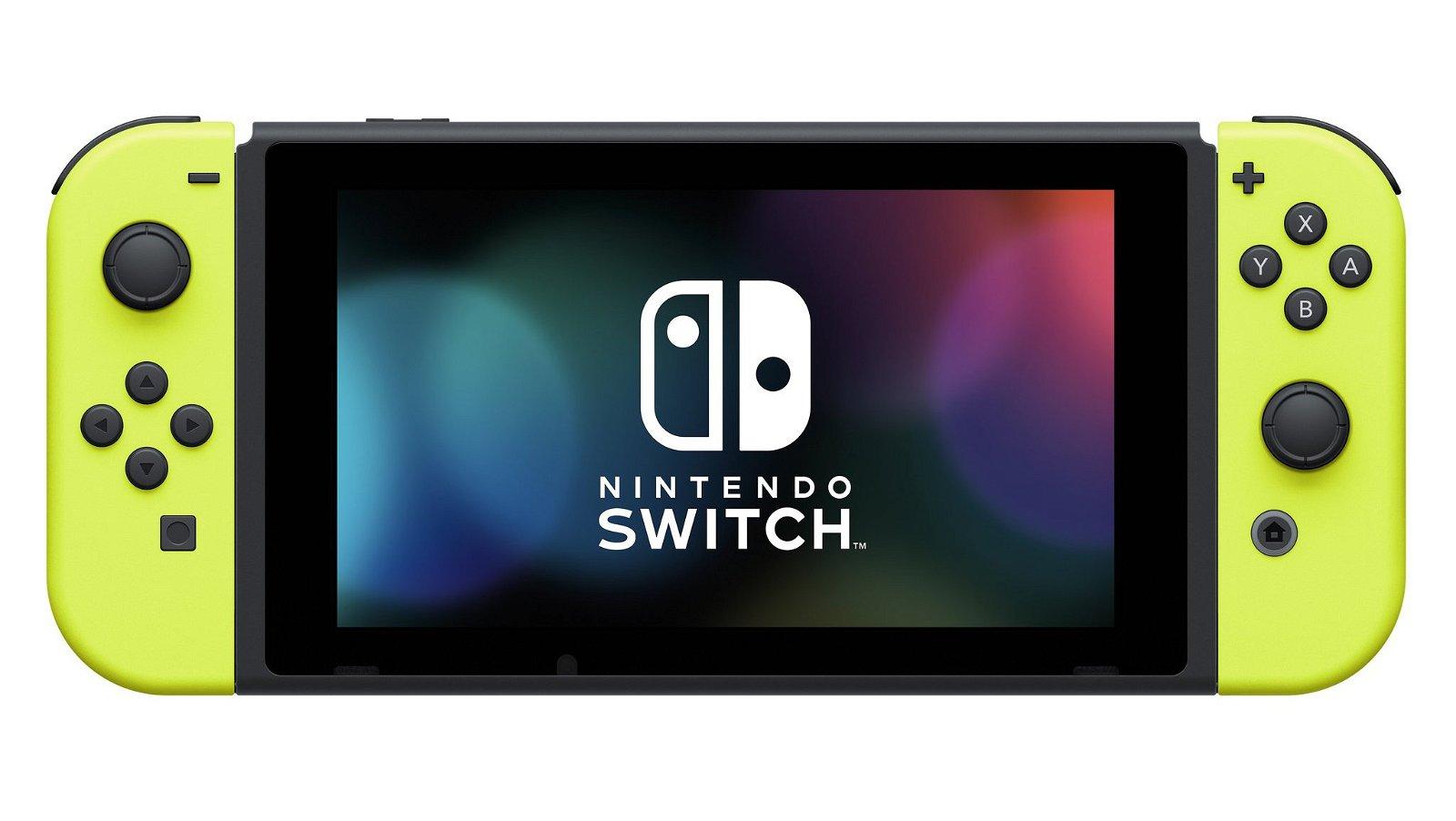 Nintendo Switch recibirá los nuevos Joy-Con amarillo neón en verano