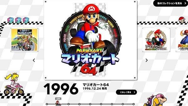 Nintendo actualiza el portal japonés dedicado a Super Mario con un repaso a la saga Mario Kart