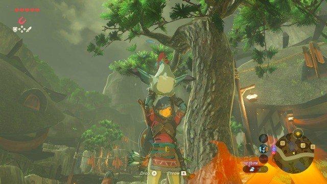 A los jugadores de The Legend of Zelda: Breath of the Wild les ha dado por tirar cucos a la lava