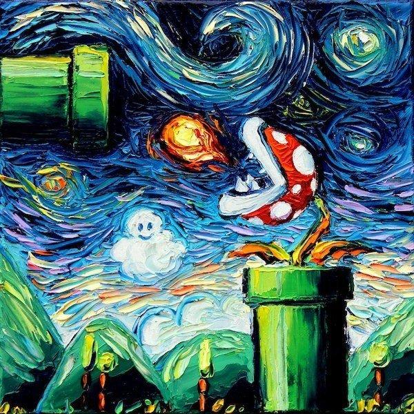 La cultura pop se transforma en cuadros de Van Gogh