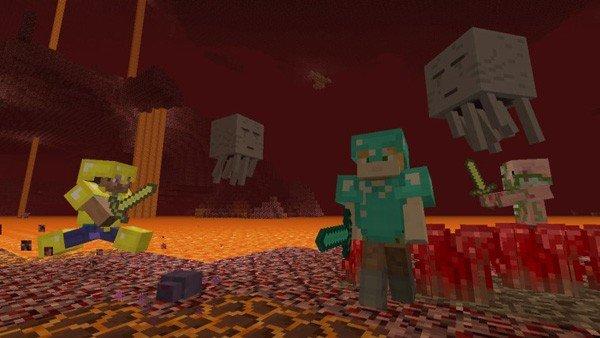 Minecraft: Nintendo Switch Edition se muestra en un gameplay