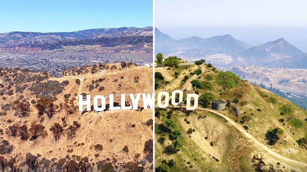 Grand Theft Auto V: Los Santos se compara con Los Ángeles mediante Google Earth