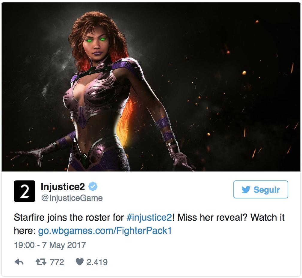 Injustice 2: La actriz Zendaya bromea en Twitter sobre su parecido con Starfire