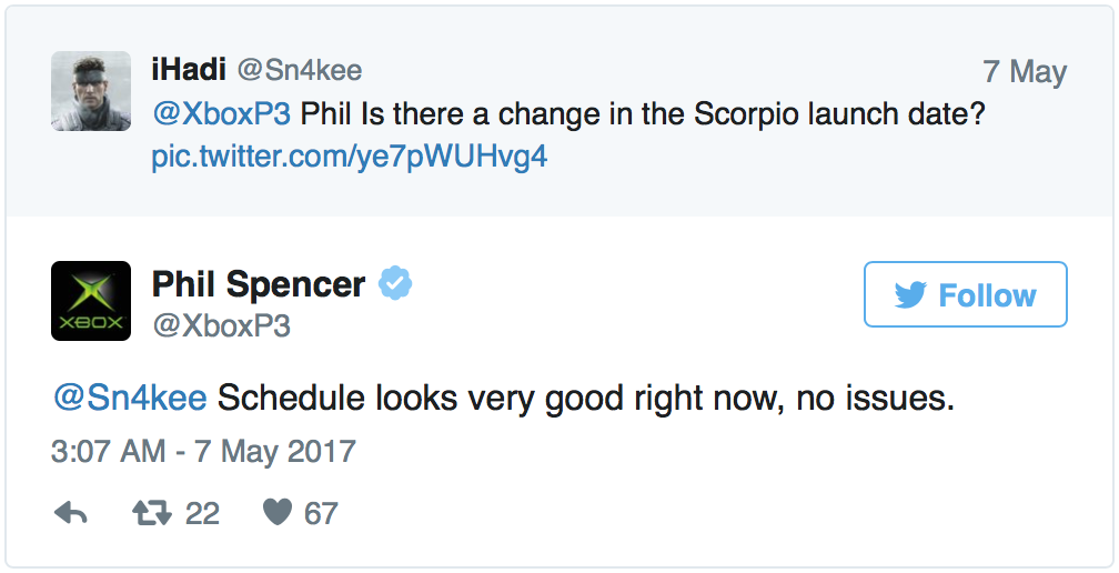 Microsoft lanza un mensaje tranquilizador acerca de Project Scorpio