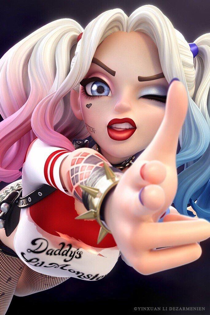 Escuadrón Suicida: Mira este fanart de Harley Quinn en 3D