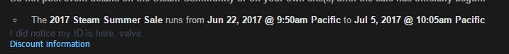 Steam: Se filtran las fechas de inicio de sus rebajas de verano